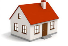 3D illustration image of a home