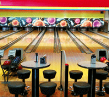 Image of a bowling alley.