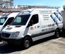 Clean solar van
