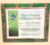 Photo of a Green Business Certification Award for Capitola Veterinary Hospital